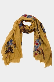 Wild Lilies Jewelry  Mustard Flower Scarf - Front cropped