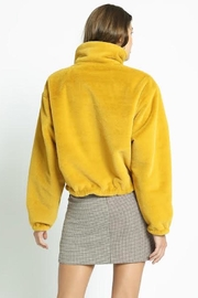 TIMELESS Mustard Fuzzy Jacket - Front full body