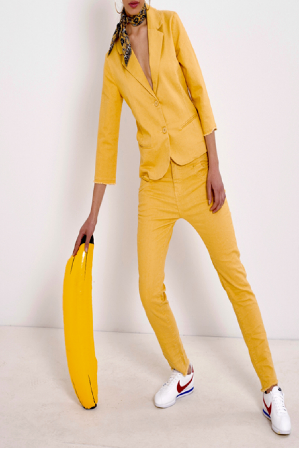 Bianco Jeans Mustard Girlfriend Ankle Jeans - Main Image