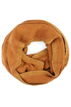 Shoptiques Product: Mustard~glitter Infinity Scarf