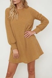 Peach Love California Mustard Knit Dress - Product Mini Image