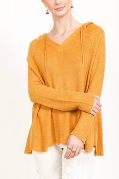 Shoptiques Product: Mustard Knit Hoodie