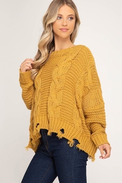 Shoptiques Product: Mustard Knit Sweater