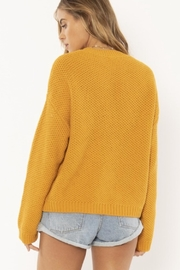 AMUSE SOCIETY Mustard Knit Sweater - Front full body
