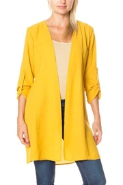 David & Dani Mustard Long Cardigan - Product Mini Image
