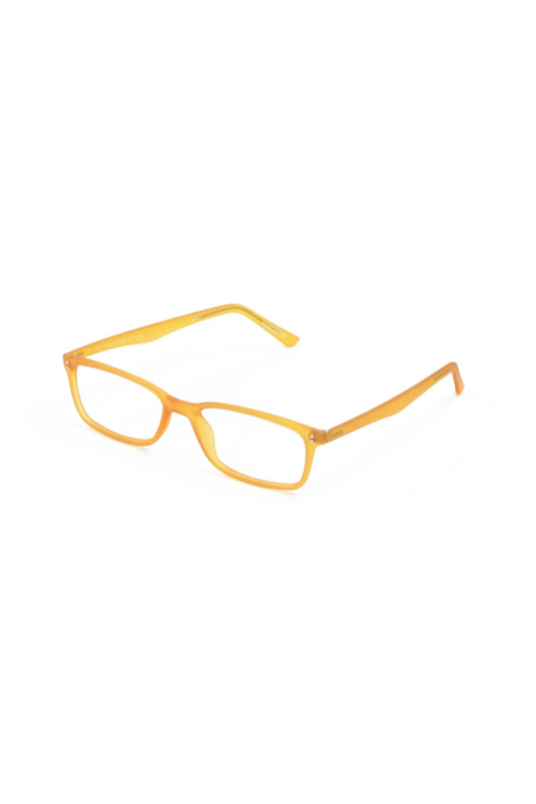 The Birds Nest MUSTARD MANHATTAN GELS +2.00 SCOJO READING GLASSES - Front Cropped Image