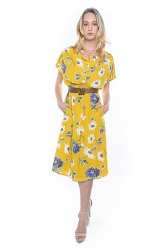 rokoko Mustard Midi Dress - Alternate List Image