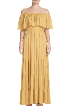 Elan Mustard Off-The-Shoulder Dress - Product List Image