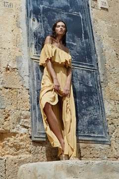 Elan Mustard Off-The-Shoulder Dress - Alternate List Image