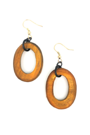 Anju Handcrafted Artisan Jewelry Mustard Oval Earring - Product Mini Image