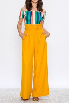 Shoptiques Product: Mustard Paperbag Pants