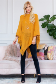 Apparel Mustard Poncho - Front cropped