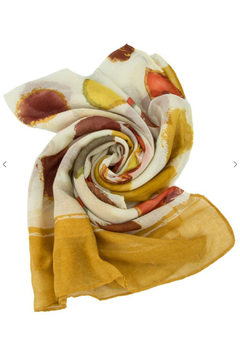 Maison A Mustard Print Scarf - Product List Image