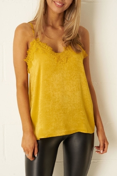 frontrow Mustard Satin-Cami Top - Product List Image