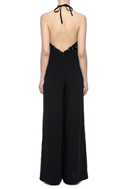 Mustard Seed Bejeweled Black Jumpsuit - Back cropped