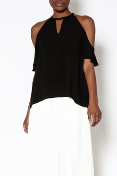 Shoptiques Product: Black Cold-Shoulder Top