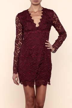 Shoptiques Product: Burgundy Lace Dress