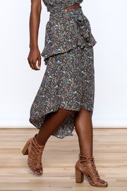 Mustard Seed Charcoal Floral Skirt - Product Mini Image