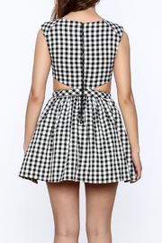 Mustard Seed Check Flared Dress - Back cropped
