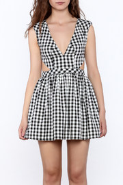 Mustard Seed Check Flared Dress - Side cropped