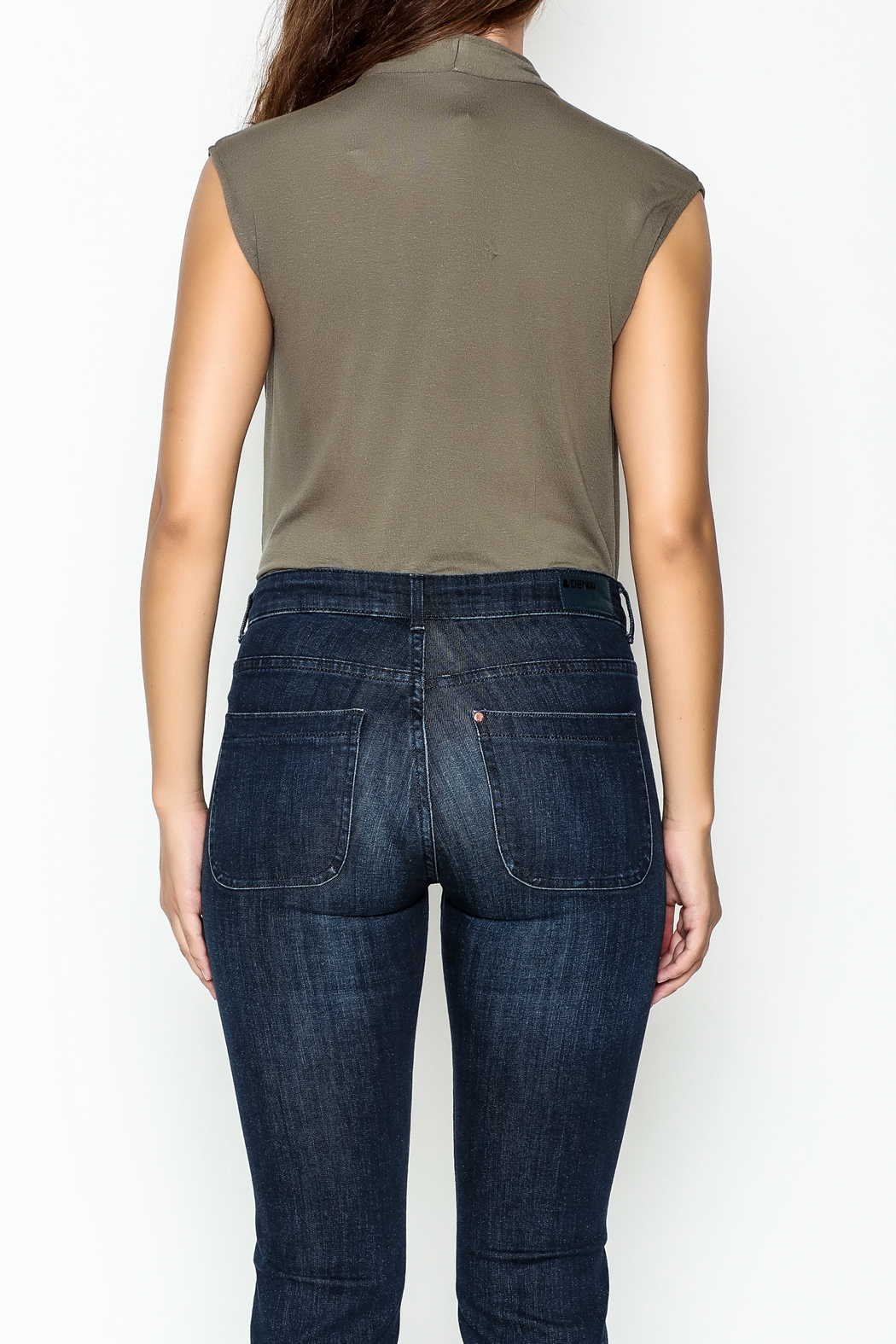 Mustard Seed Date Night Bodysuit - Back Cropped Image