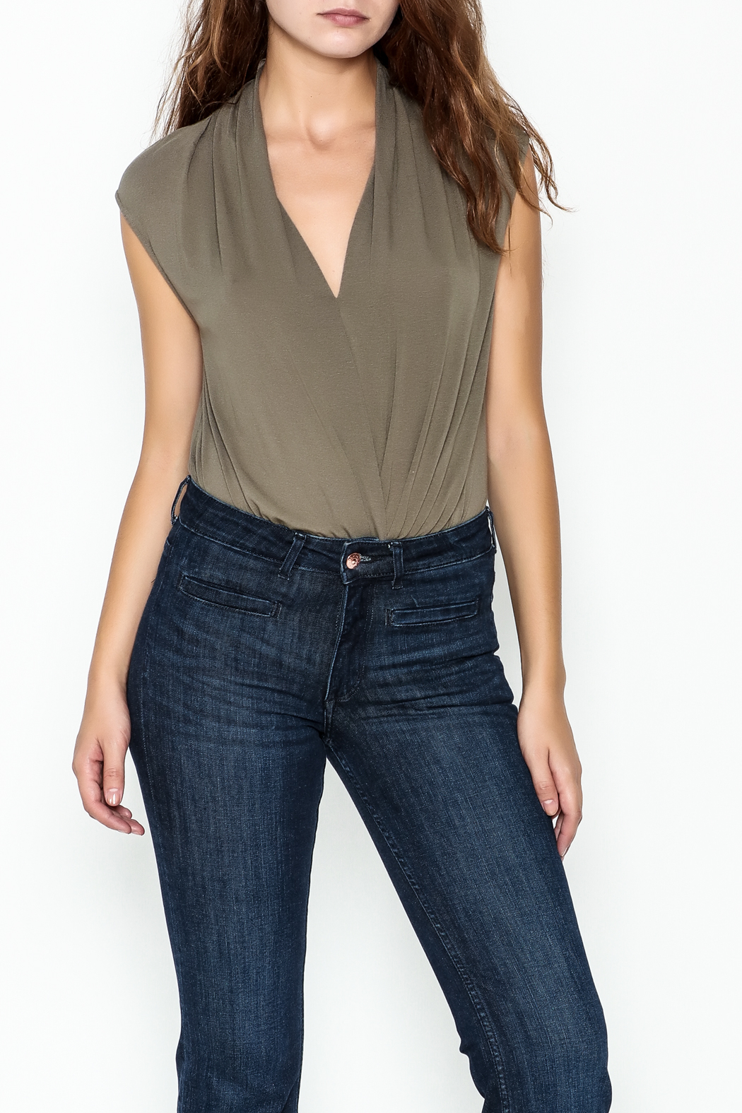 Mustard Seed Date Night Bodysuit - Front Cropped Image