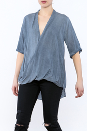 Mustard Seed Drape Wrap Blouse - Product Mini Image
