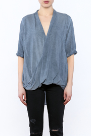 Mustard Seed Drape Wrap Blouse - Side cropped