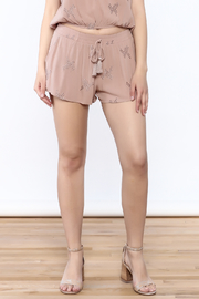 Mustard Seed Pink Embroidered Shorts - Product Mini Image