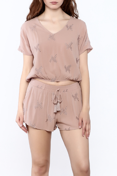 Mustard Seed Pink Embroidered Top - Product List Image