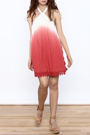 Mustard Seed Halter Ombre Dress - Front full body