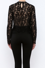 Mustard Seed Lace Sleeve Blouse - Back cropped