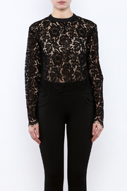 Mustard Seed Lace Sleeve Blouse - Side cropped