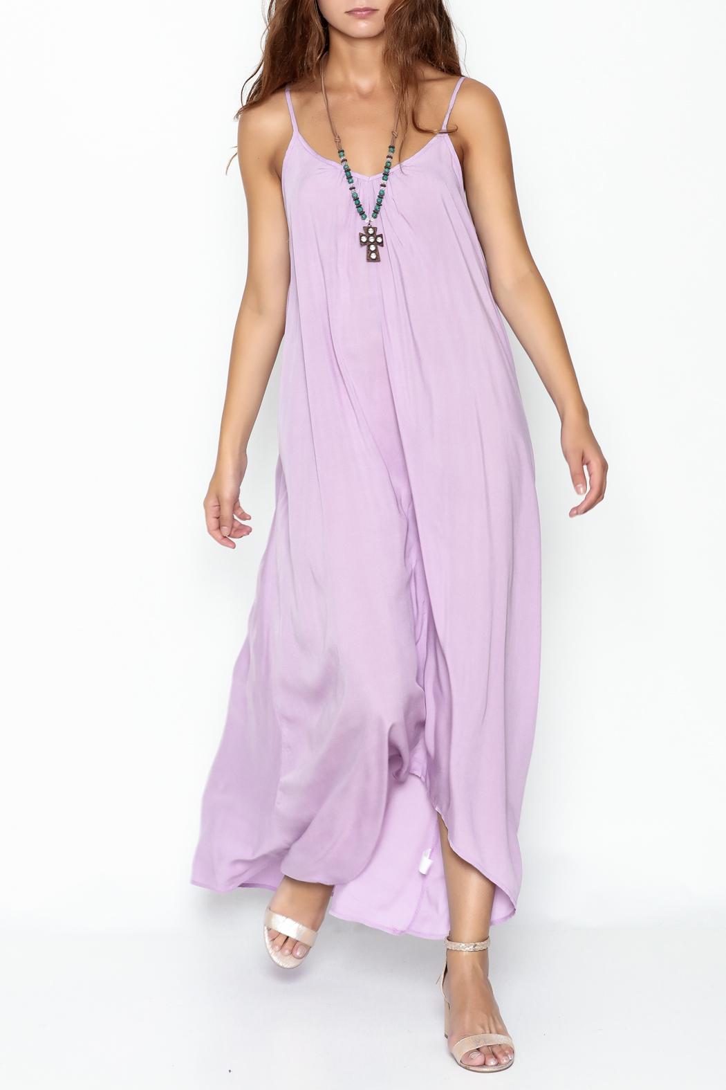 Mustard Seed Lavender Strappy Maxi - Main Image
