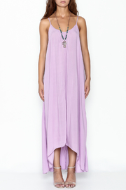 Mustard Seed Lavender Strappy Maxi - Front full body