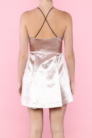 Mustard Seed Metallic Pink Dress - Back cropped