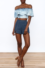 Mustard Seed Acid Wash Crop Top - Front full body