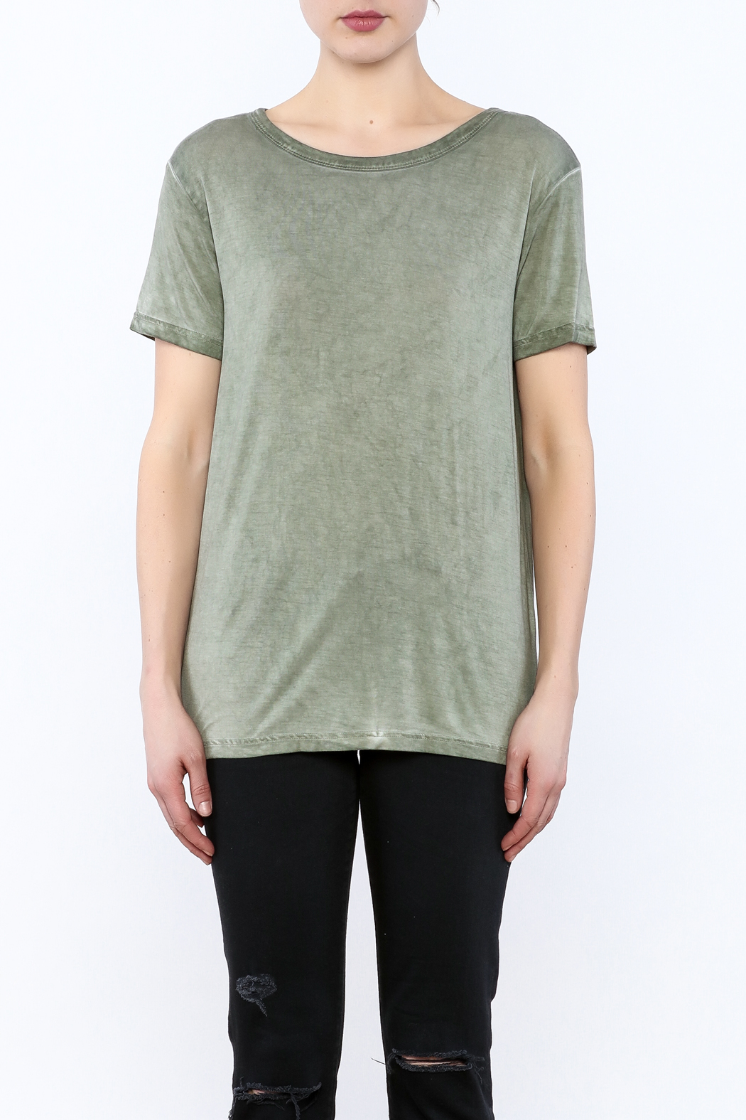 Mustard Seed Cadet Green Tie Back Top - Side Cropped Image