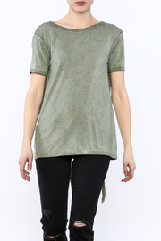 Mustard Seed Cadet Green Tie Back Top - Back cropped