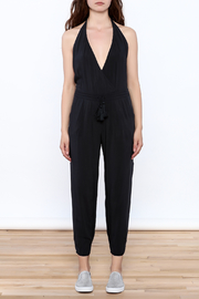 Mustard Seed Charcoal Sleeveless Jumpsuit - Front cropped