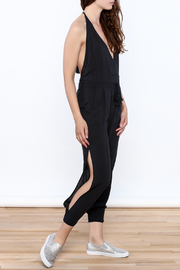 Mustard Seed Charcoal Sleeveless Jumpsuit - Front full body