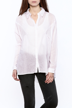 Shoptiques Product: Pink and White Button Down