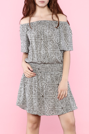 Shoptiques Product: Print Off Shoulder Dress - Front cropped