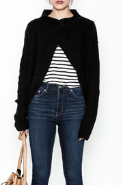 Mustard Seed Black Long Sleeve Cardigan - Front full body