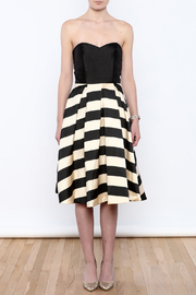 Mustard Seed Striped Flare Dress - Front cropped