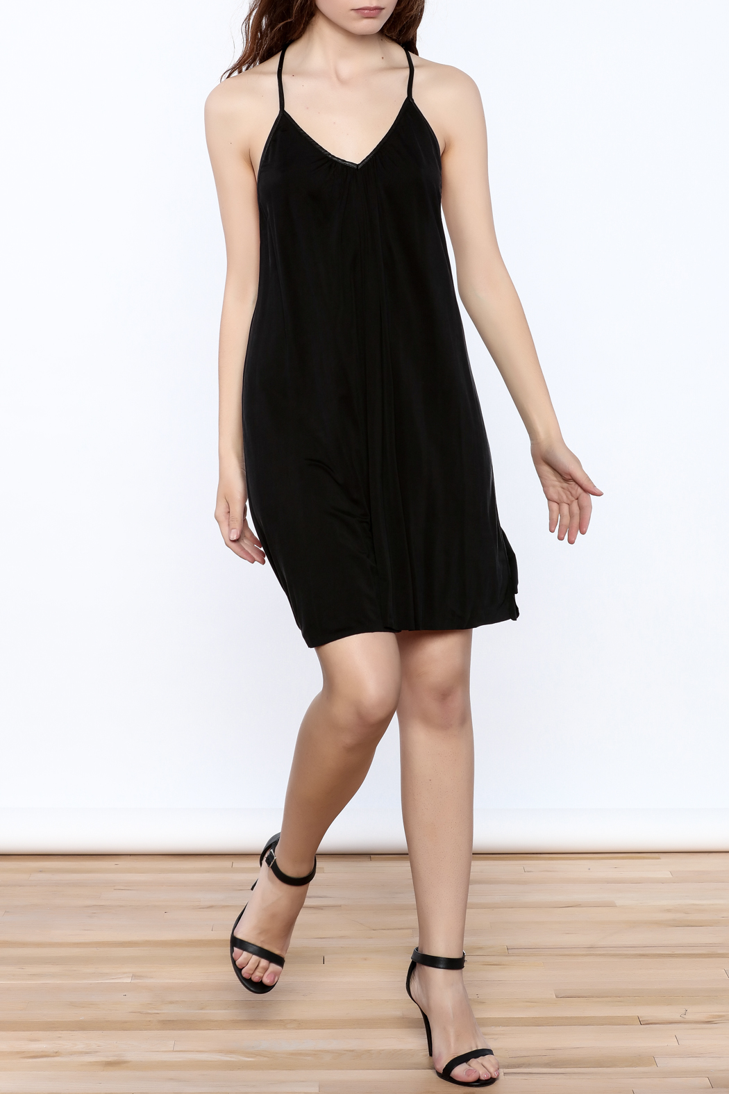 Mustard Seed Casual Black Sleeveless Dress - Front Full Image