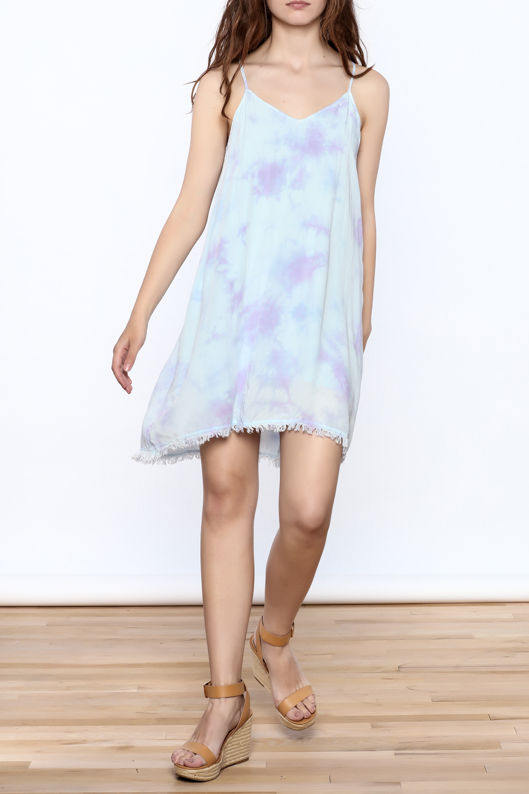 Mustard Seed Lilac Tie Dye Dress - Front Full Image