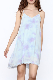 Mustard Seed Lilac Tie Dye Dress - Front cropped
