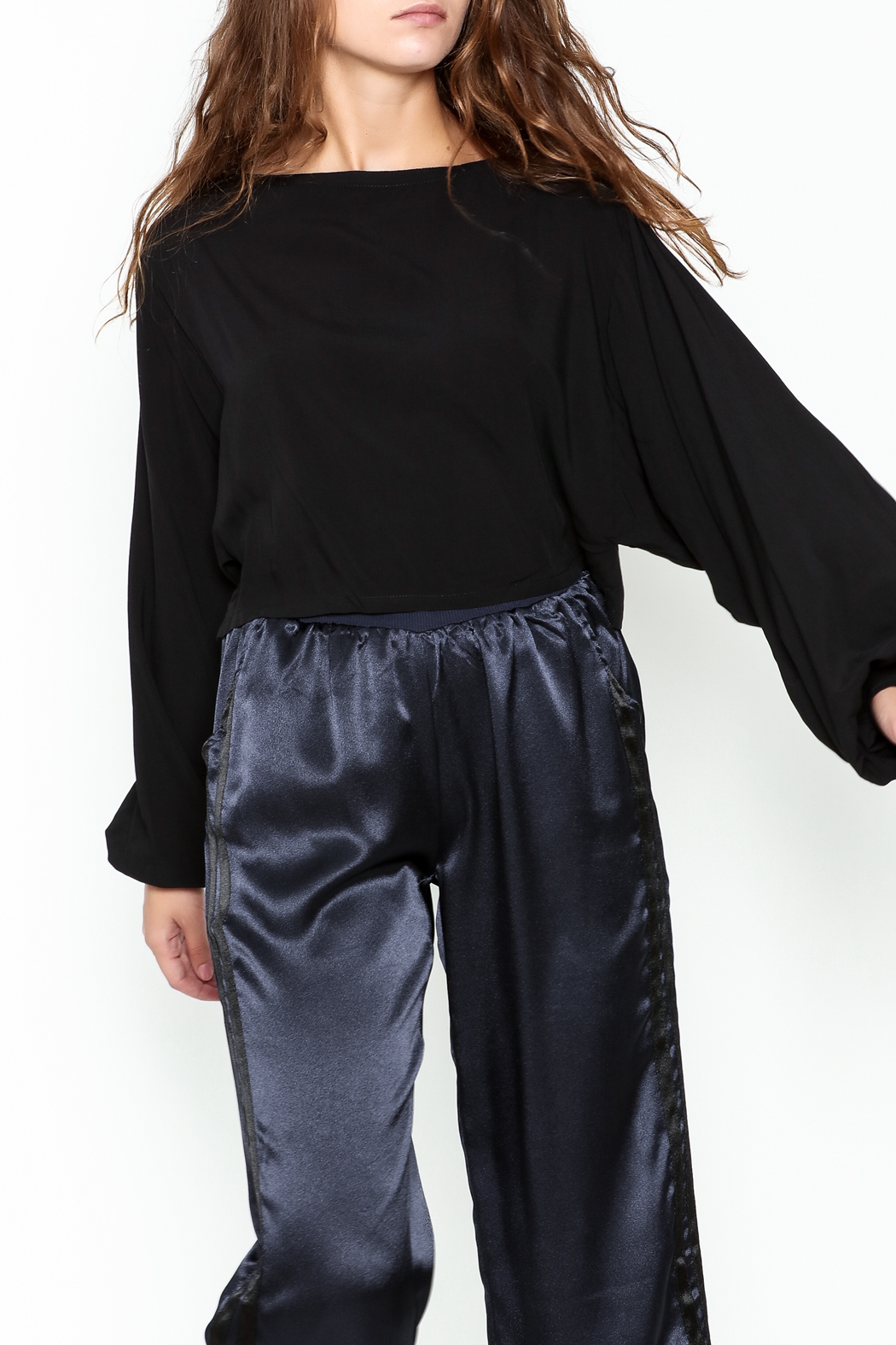 Mustard Seed Volume Sleeve Top - Front Cropped Image