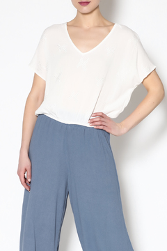 Mustard Seed White Oversized Crop Top - Product List Image